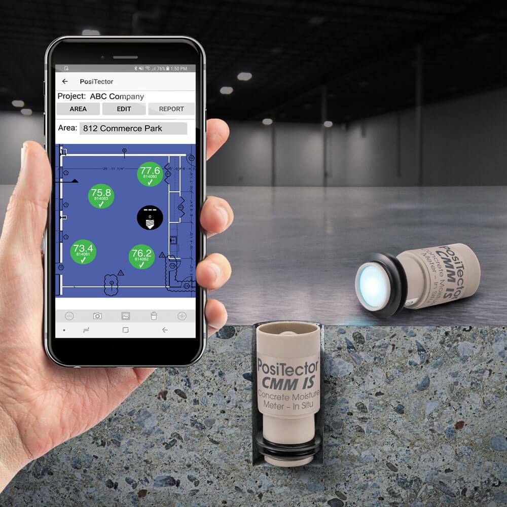 Concrete Rh Moisture Measurement