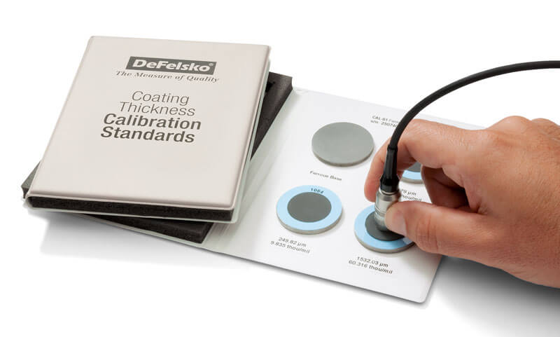 Coating thickness calibration standards