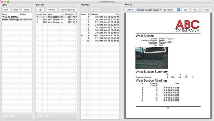 Example of PosiSoft Deskop Custom PDF Report Generator