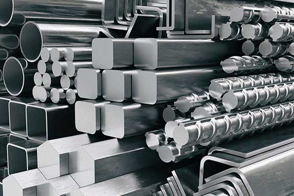 Photo of steel stock in many shapes and forms