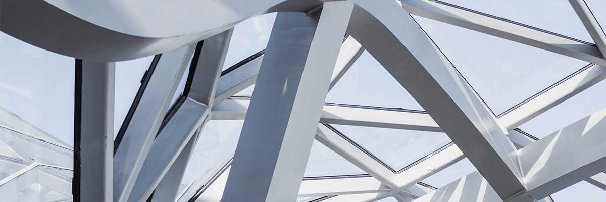 Photo of a stainless steel structure