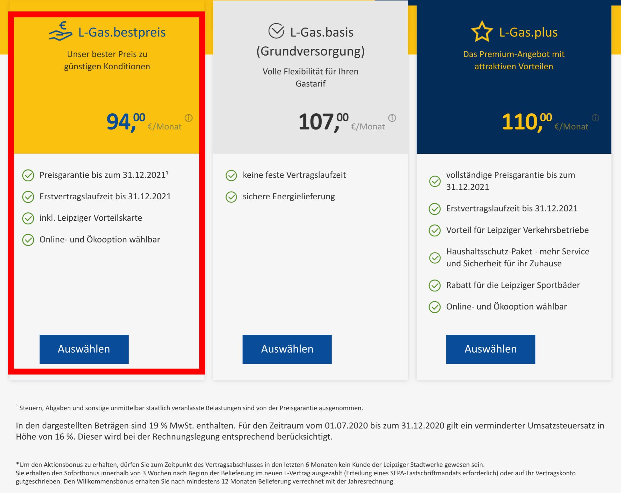 Gaspreisvergleich Leipzig Leipziger Stadtwerke günstige Gastarife