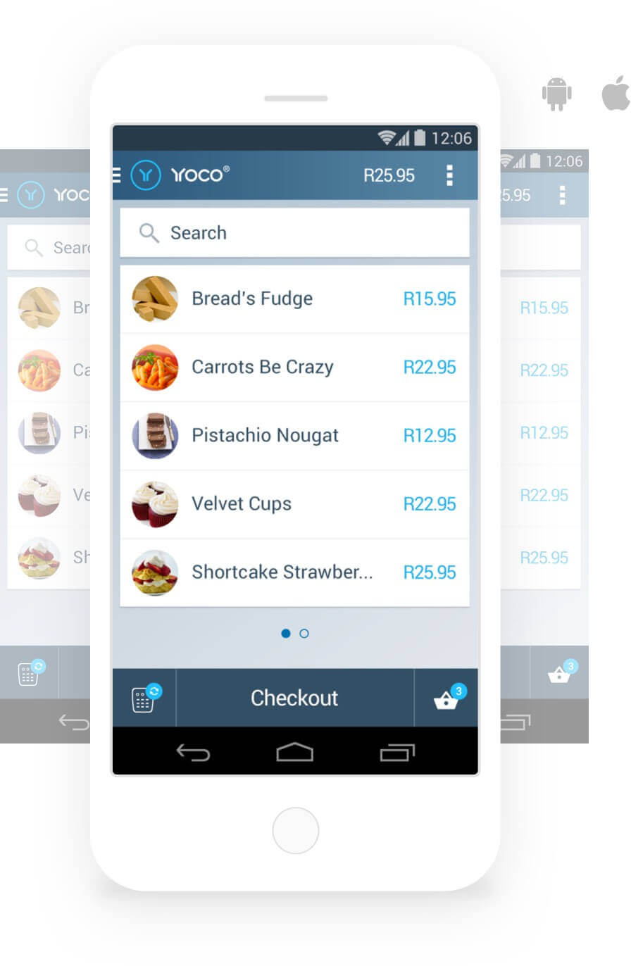 The Yoco Point Of Sale App Displayed On Mobile Devices