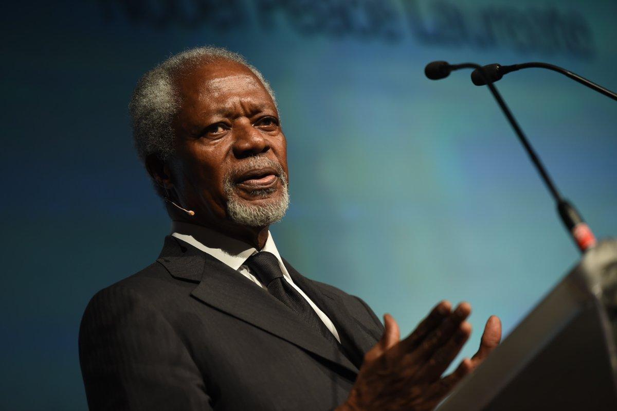 """""""Solução para os conflitos de hoje tem que ser política, não militar"""", defende Kofi Annan"""