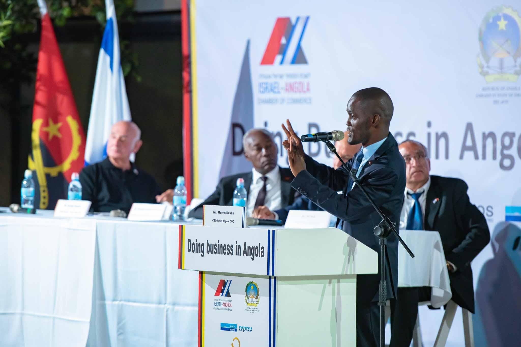 Angolanos são recebidos em Israel no 2º Fórum Empresarial em 2019