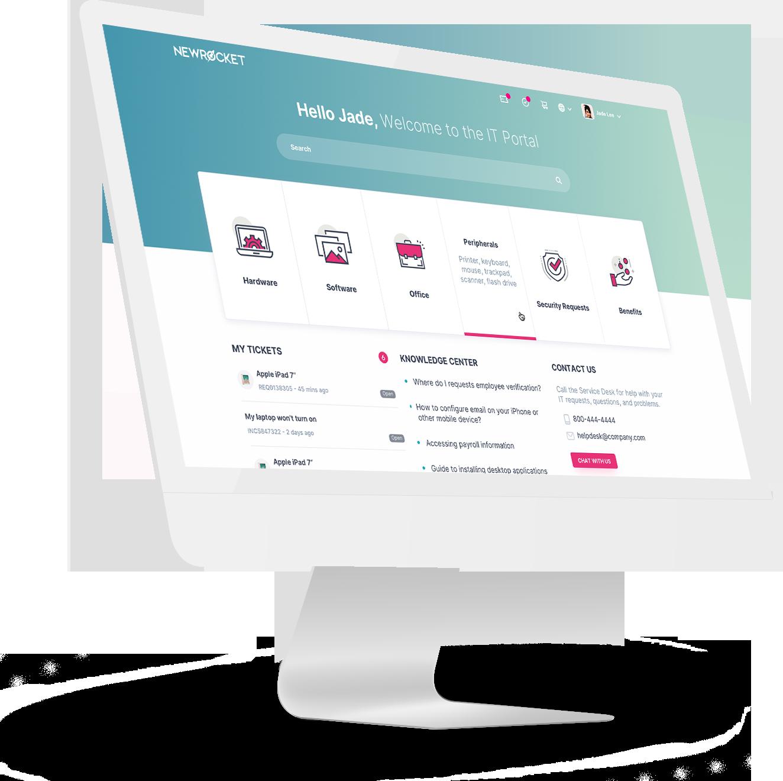 NewRocket Service Portal UI