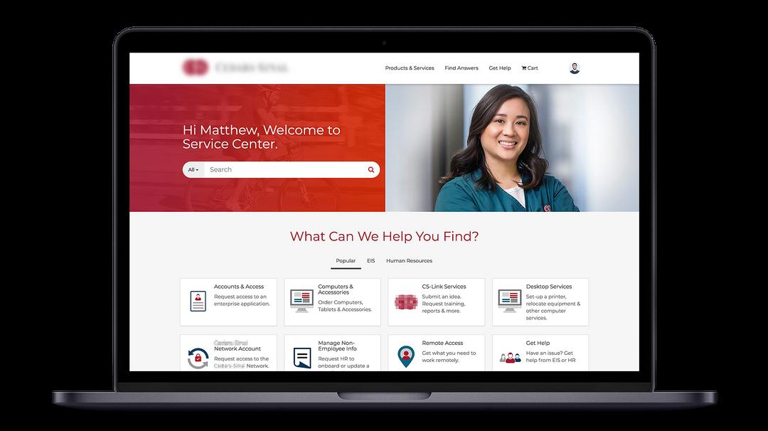 Medical Center ServiceNow Service Portal Design