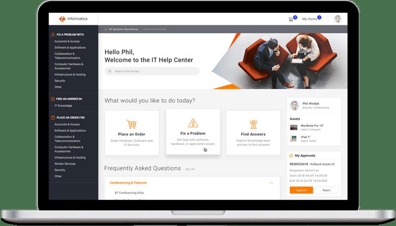 ServiceNow Service Portal Design for Informatica
