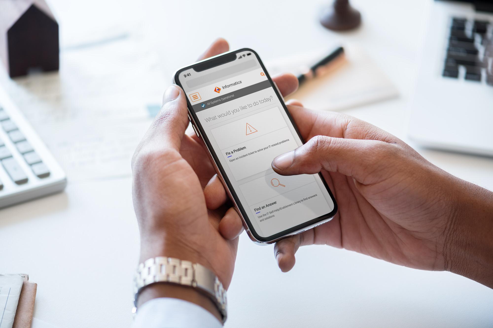 Service Portal Mobile Design