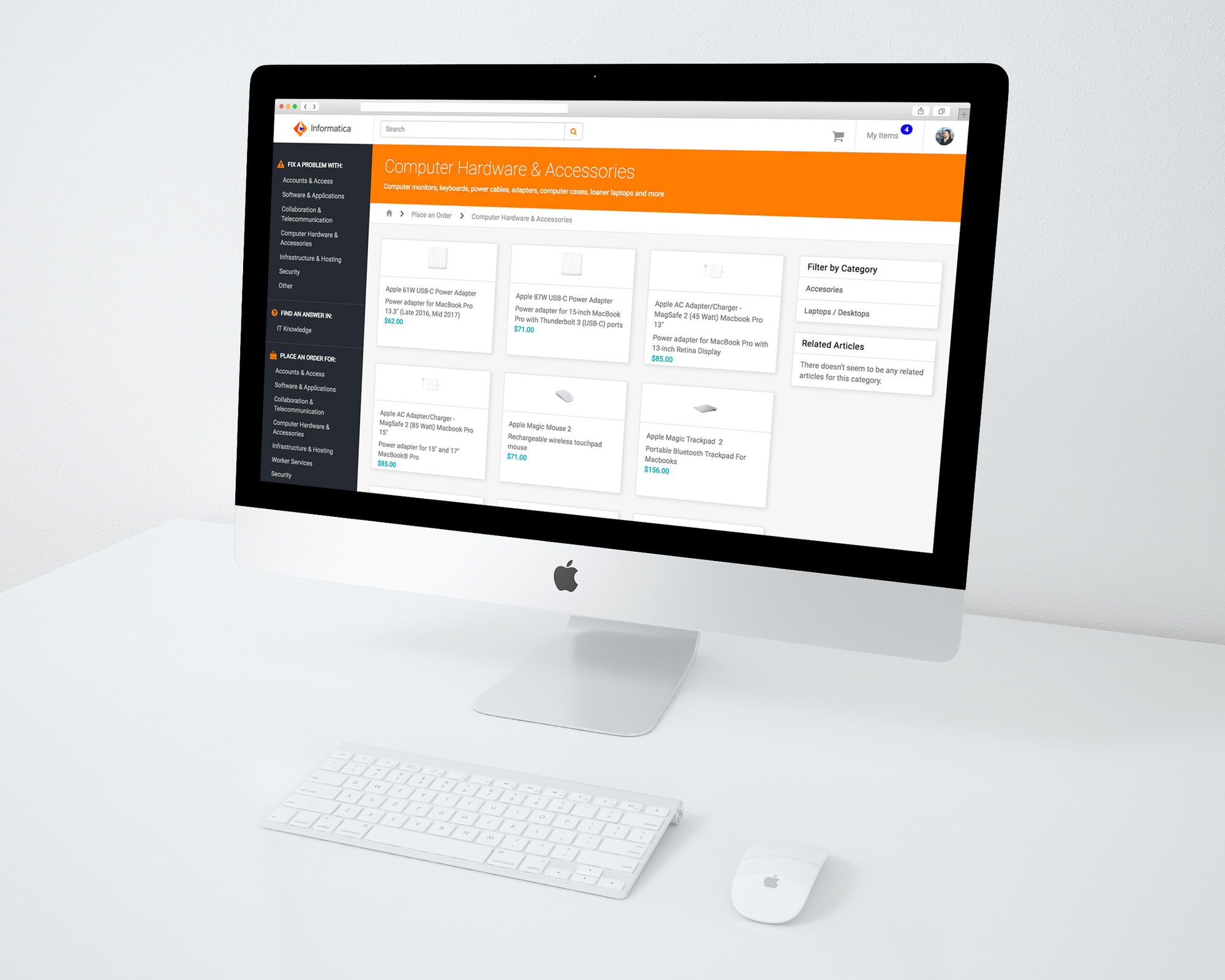 Desktop Service Portal Design