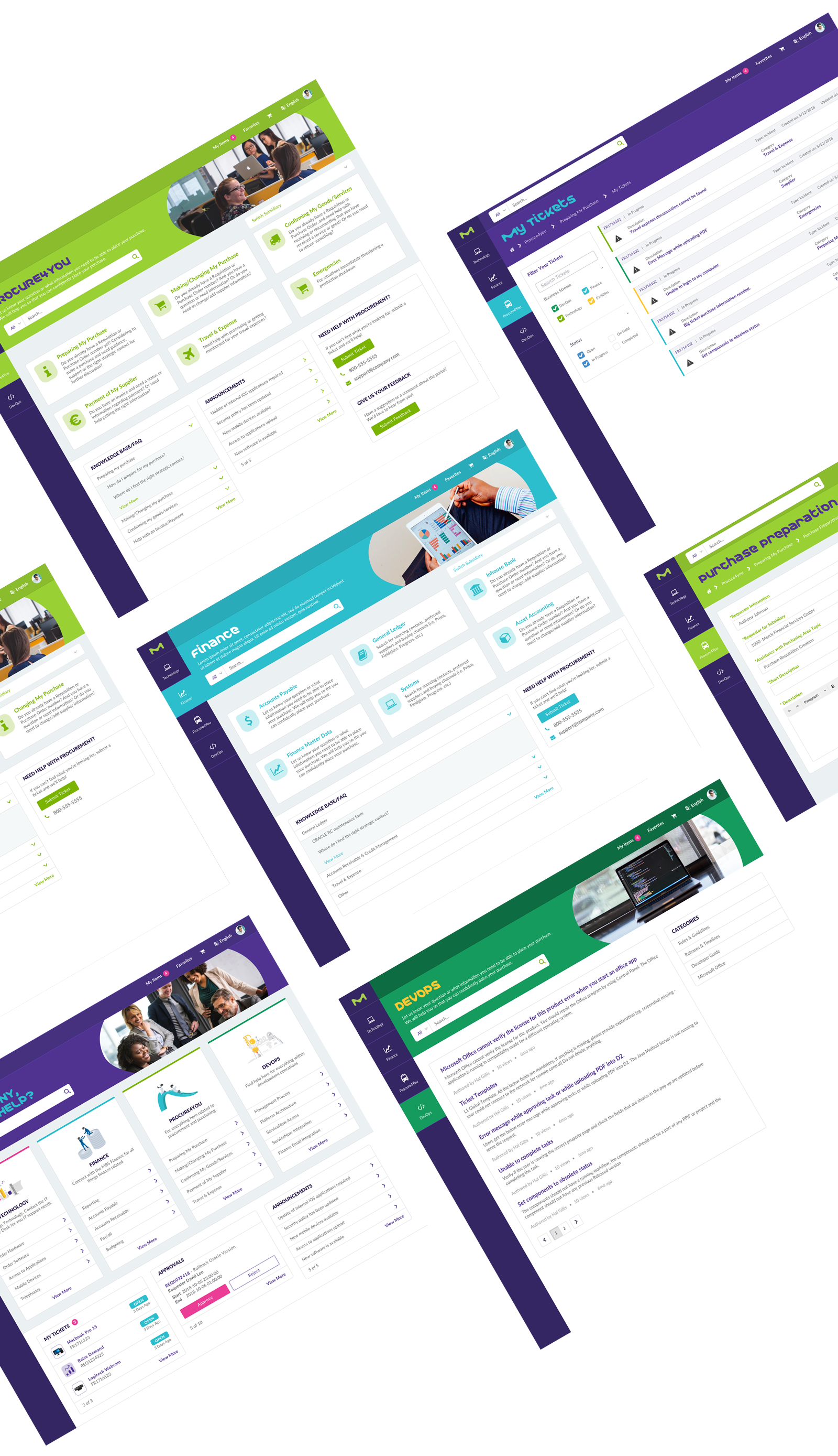 UI of ServiceNow Service Portal for Merck