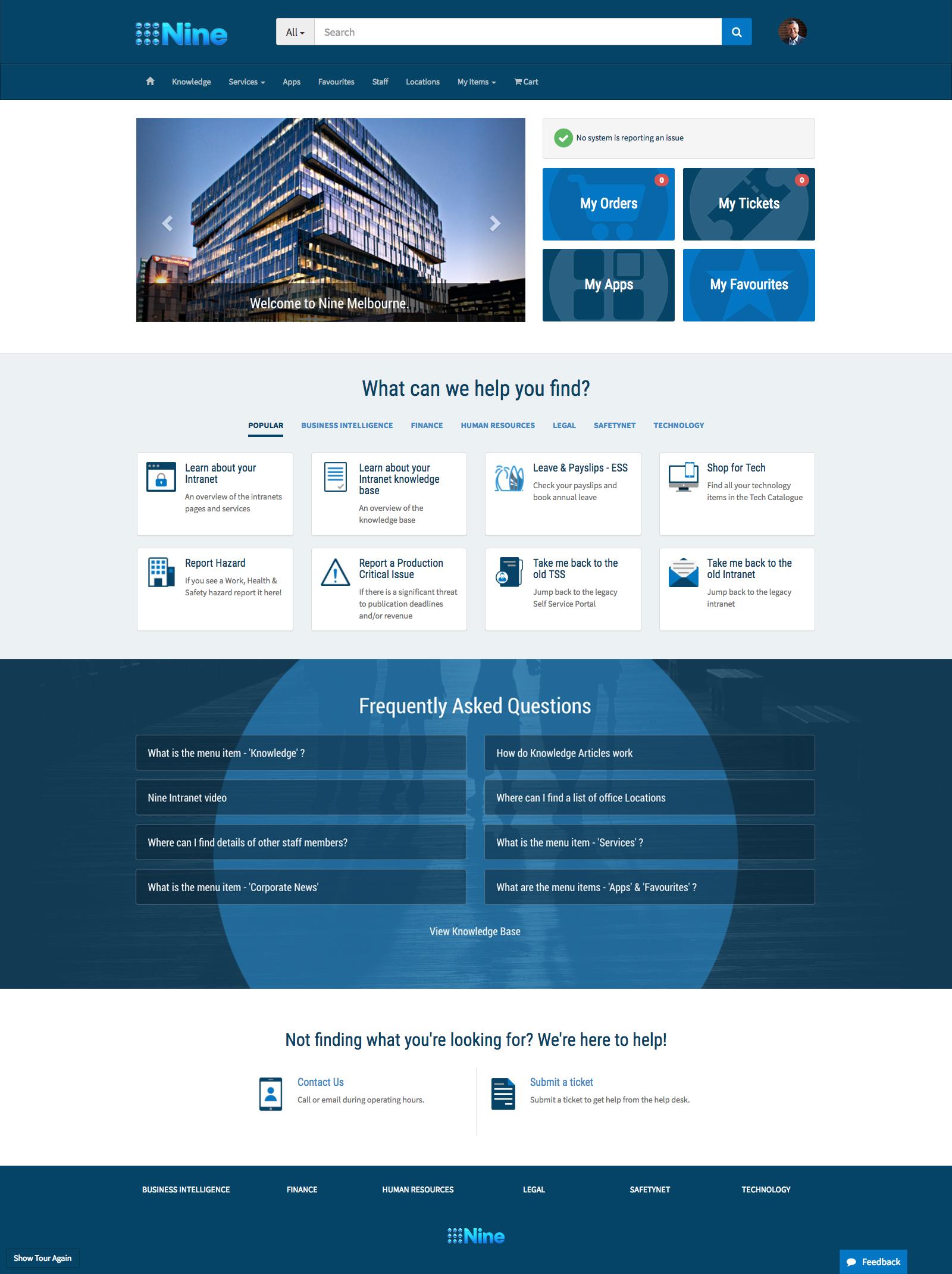 ServiceNow Service Portal Design for Channel Nine