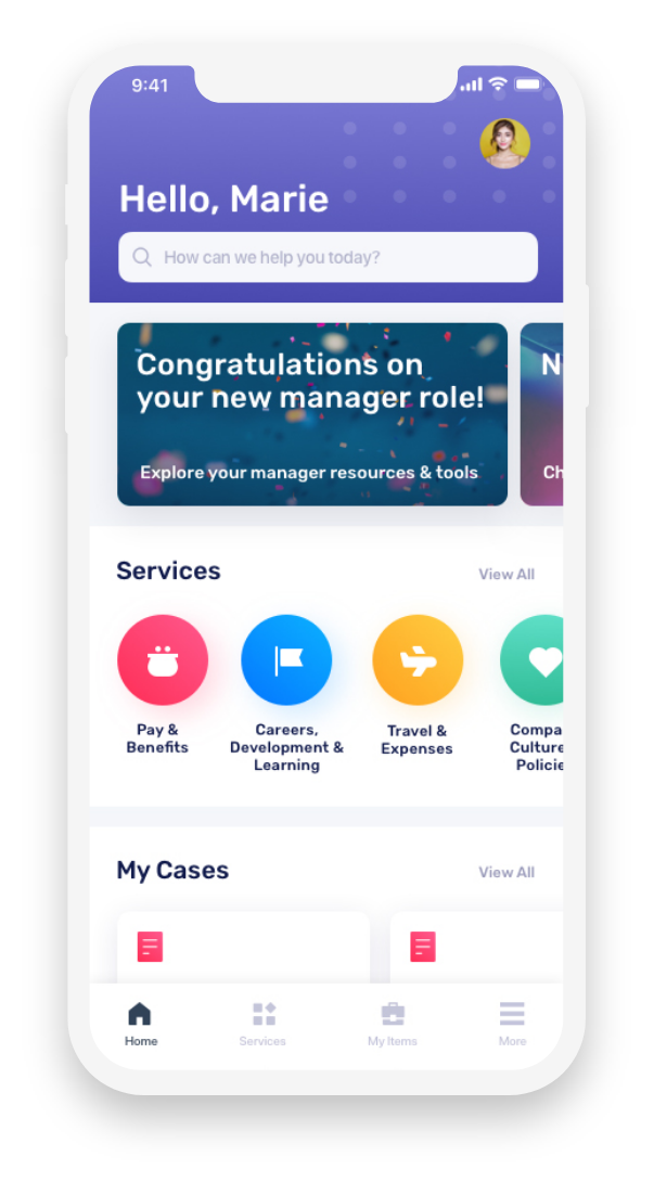 ServiceNow HR Mobile App Design