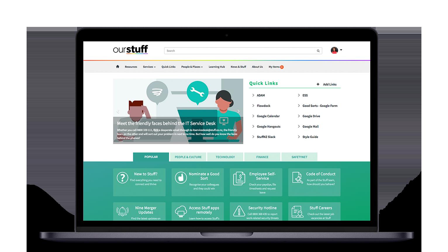 Stuff NewRocket Service Portal Design