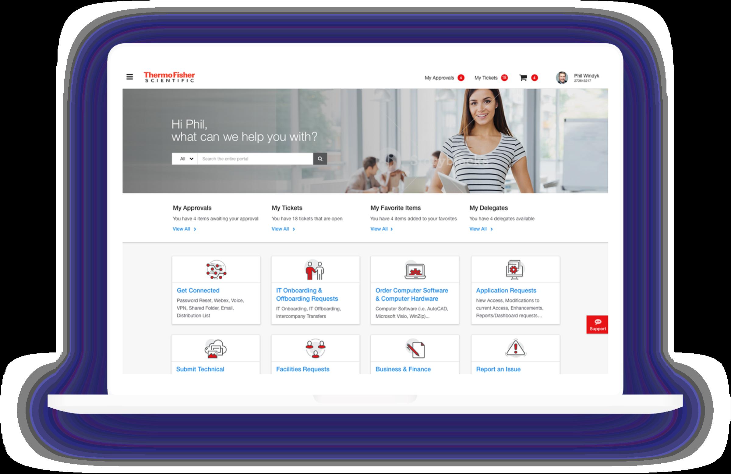 IT vs HR Service Portal Design