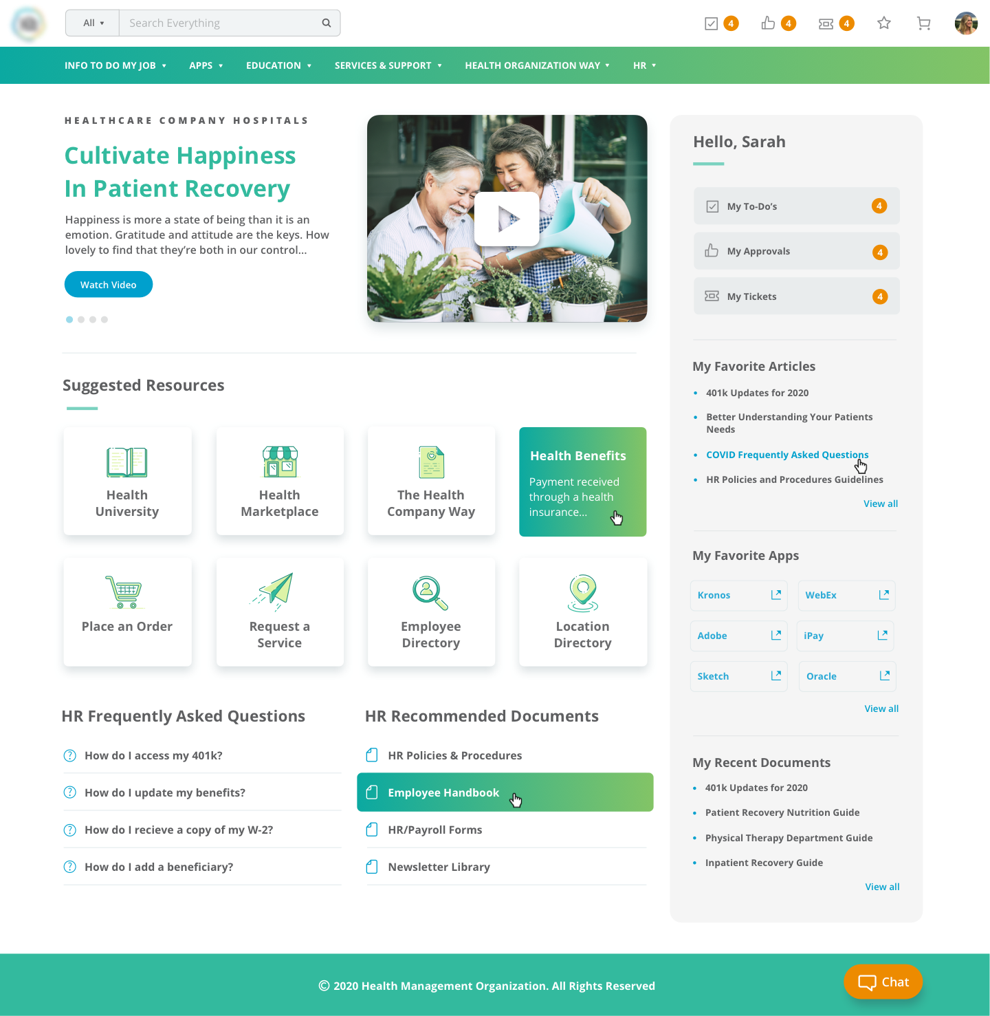 ServiceNow Service Portal HR Design Example for Thermo Fisher