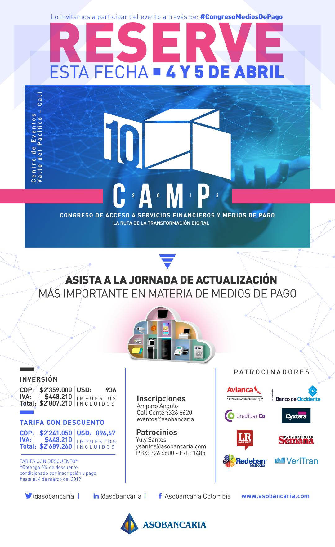 Calendario Financiero 2019.10º Congreso De Acceso A Servicios Financieros Y Medios De Pago