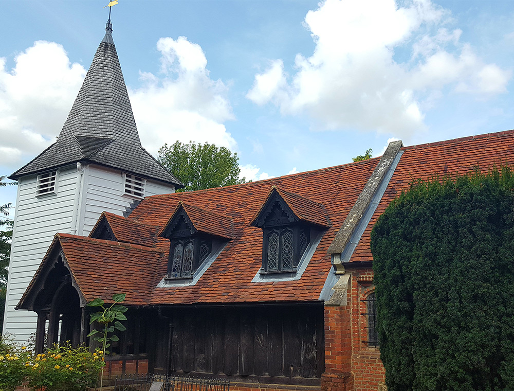 Oldest wooden Church in the world. Greensted Church Ongar