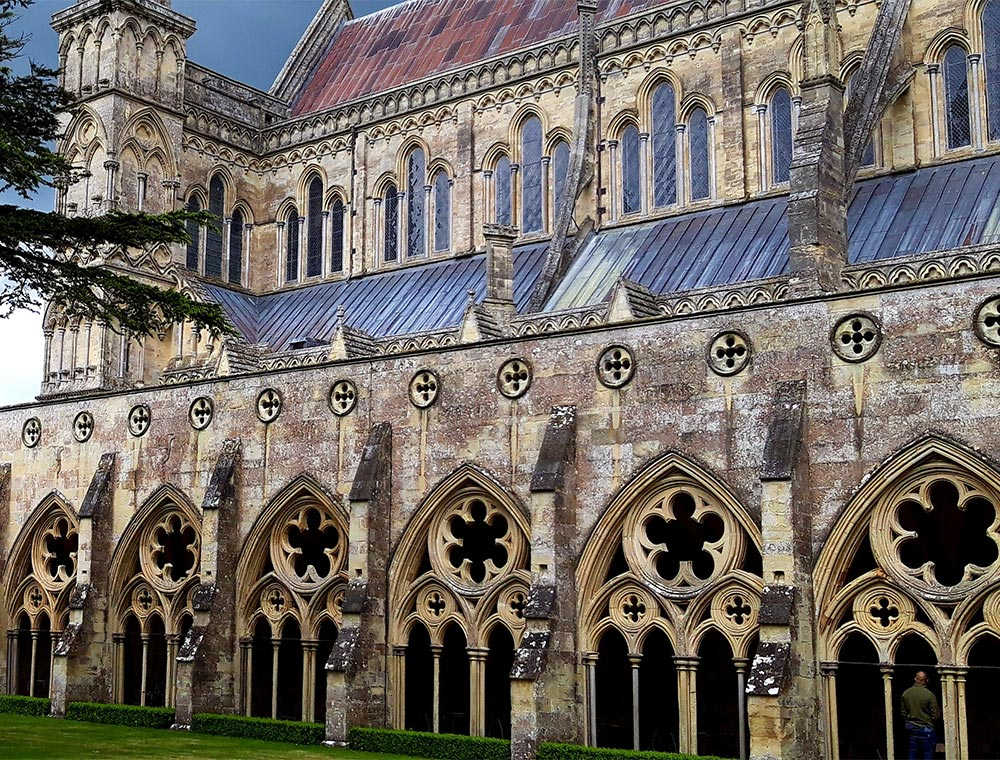 Salisbury Cathedral stop on taxi tour