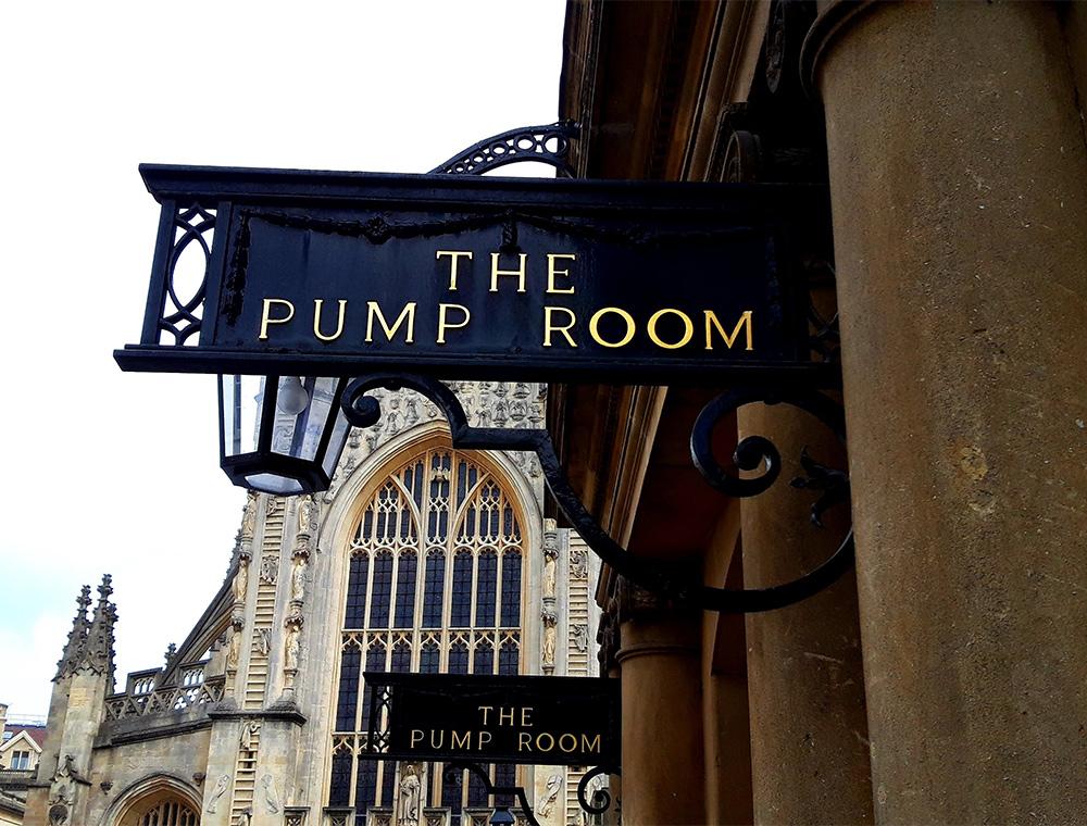 sign for Bath Pump Rooms