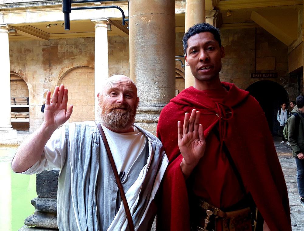 Roman Characters at Roman baths