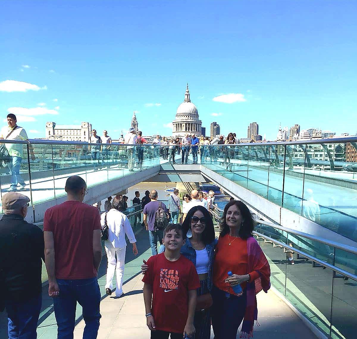 Millennium Bridge Harry Potter tour guest