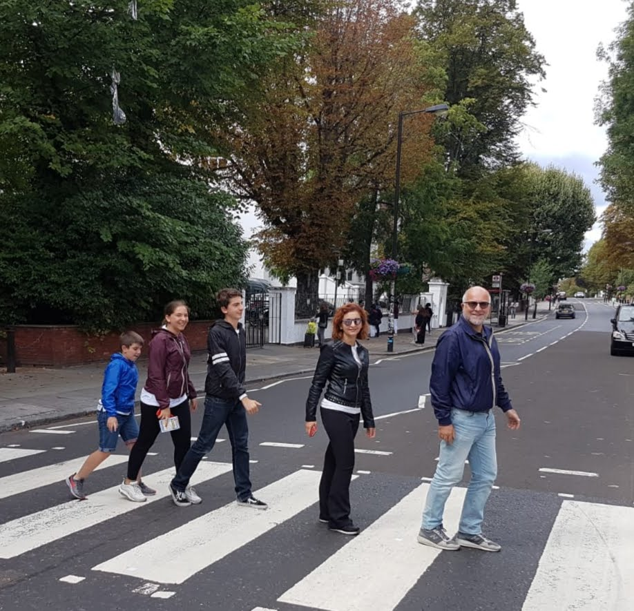 London Taxi Tour group on Abbey Road crossing