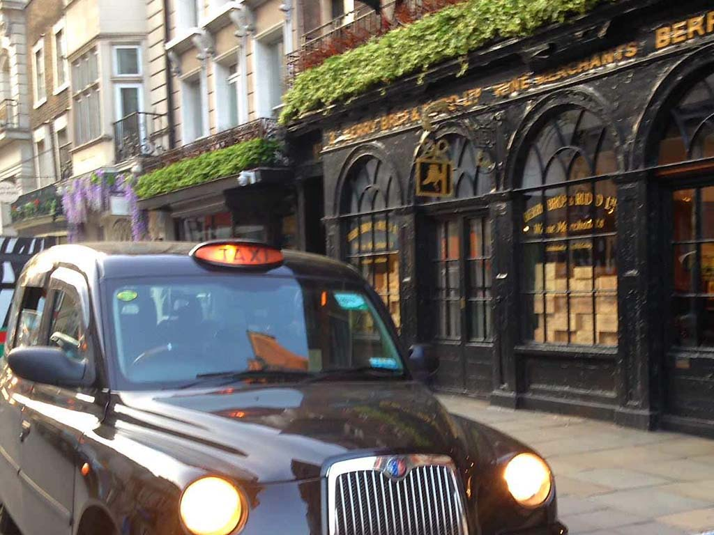 london Iconic cab on Rock n Roll tour