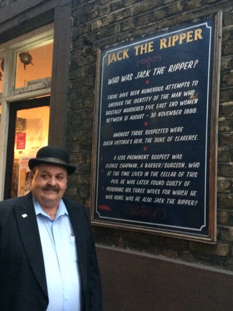 guest on Jack the Ripper taxi Tour