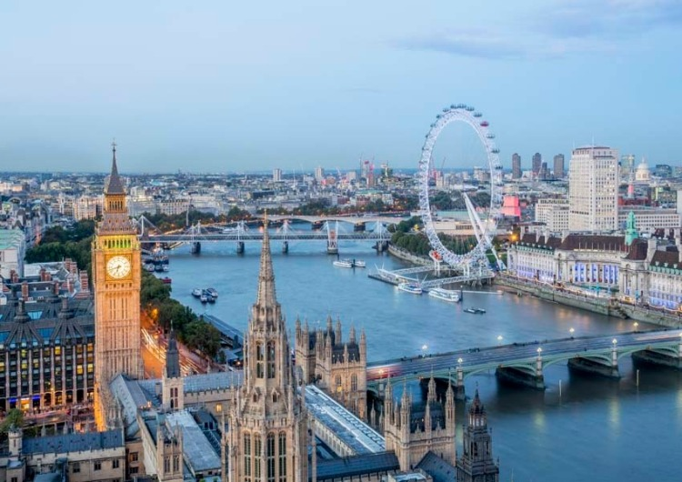 aerial view of London for London's highlights virtual tour, photo by london partners