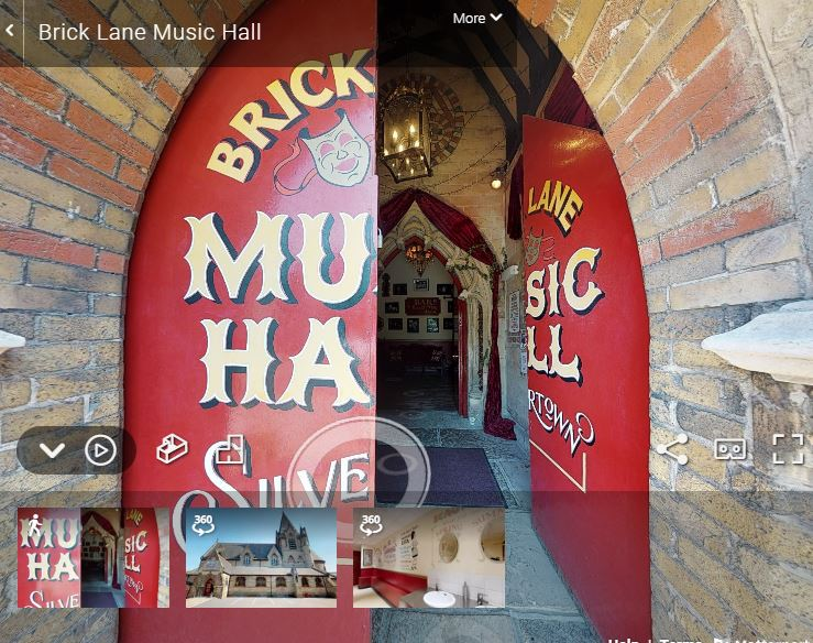 Screen Shot of the Brick Lane Virtual Tour for the best virtual tour list on Visit London Taxi Tours