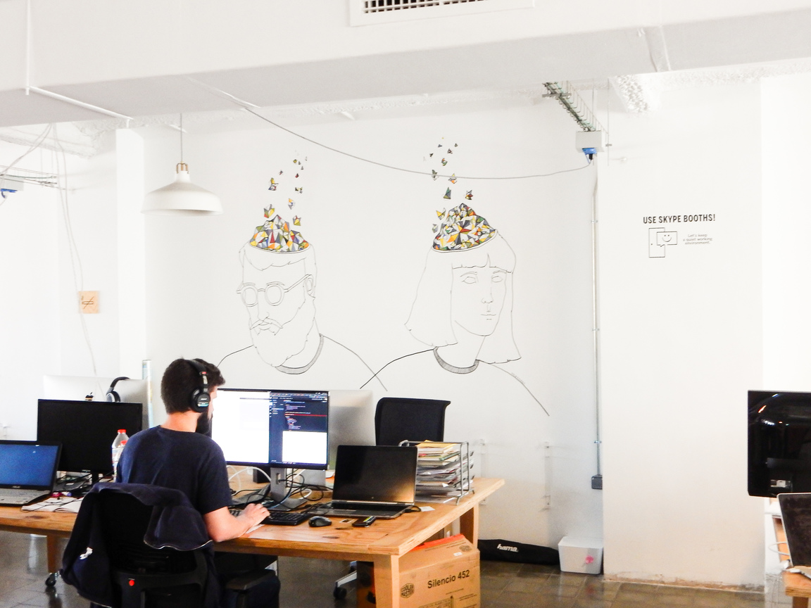 betahaus Barcelona Coworking Space Area Freelancers Work Together