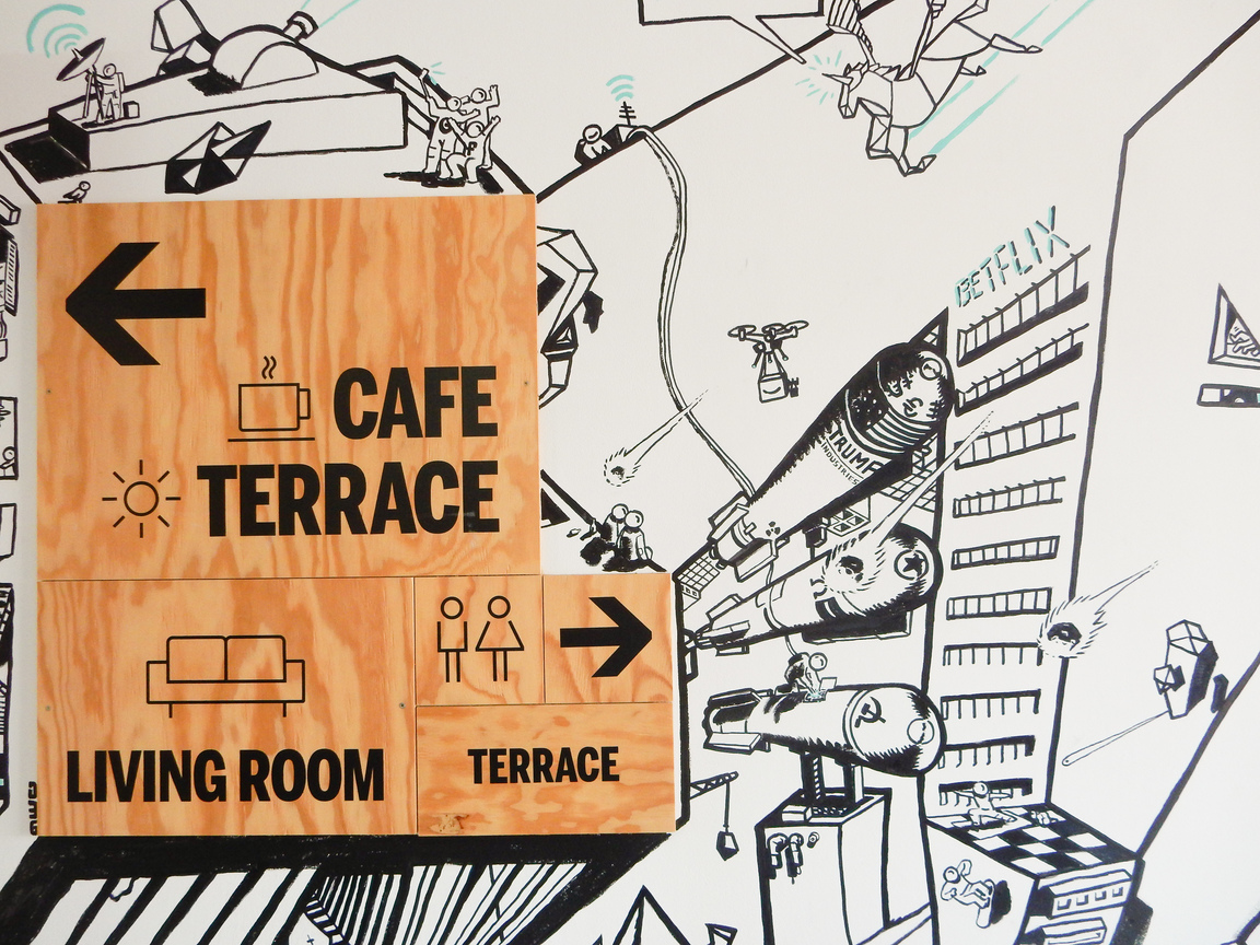 betahaus Barcelona Sign Terraces Cafe Coworking
