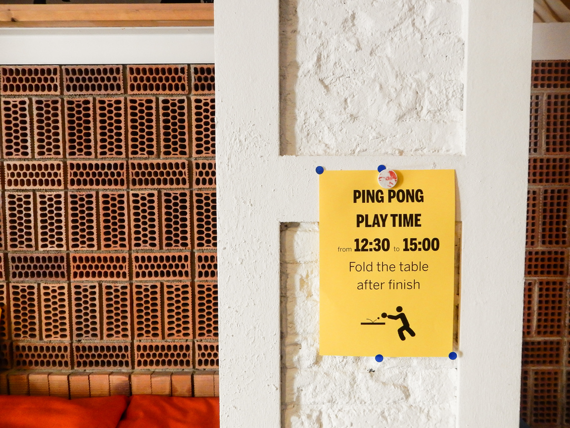 betahaus Barcelona Sign Ping Pong Time Coworking Community