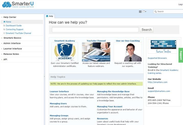 Online Help System - SmarterU LMS - Learning Management System