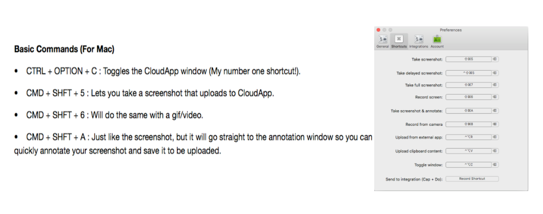 cloudapp keyboard shortcuts