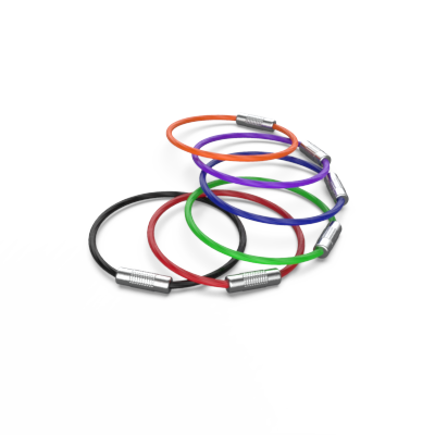 Colorful flexible rings