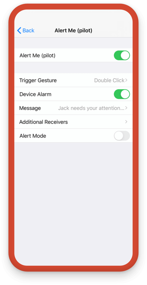 Custom settings allow for multiple people to be notified