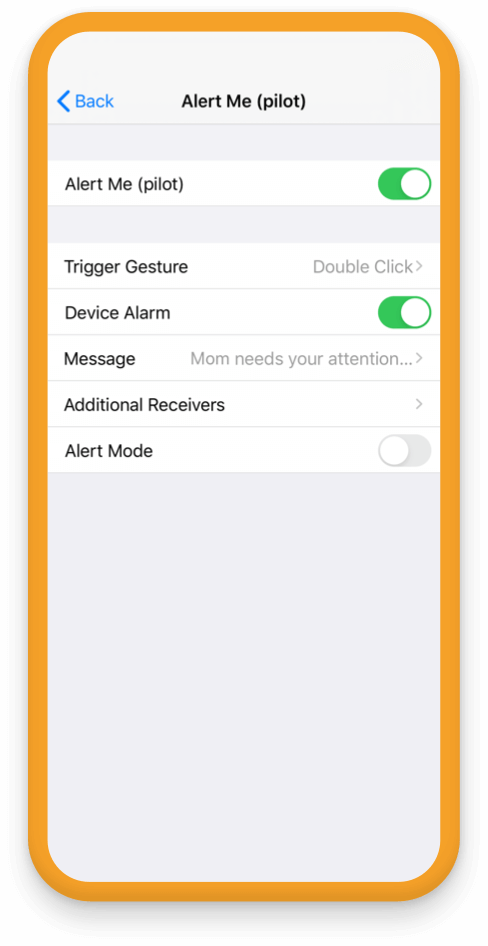 Change your Alert Me options to include custom message and additional trusted people