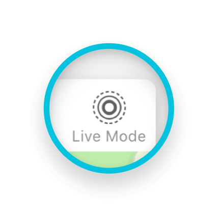 Switch from active tracking to live-mode
