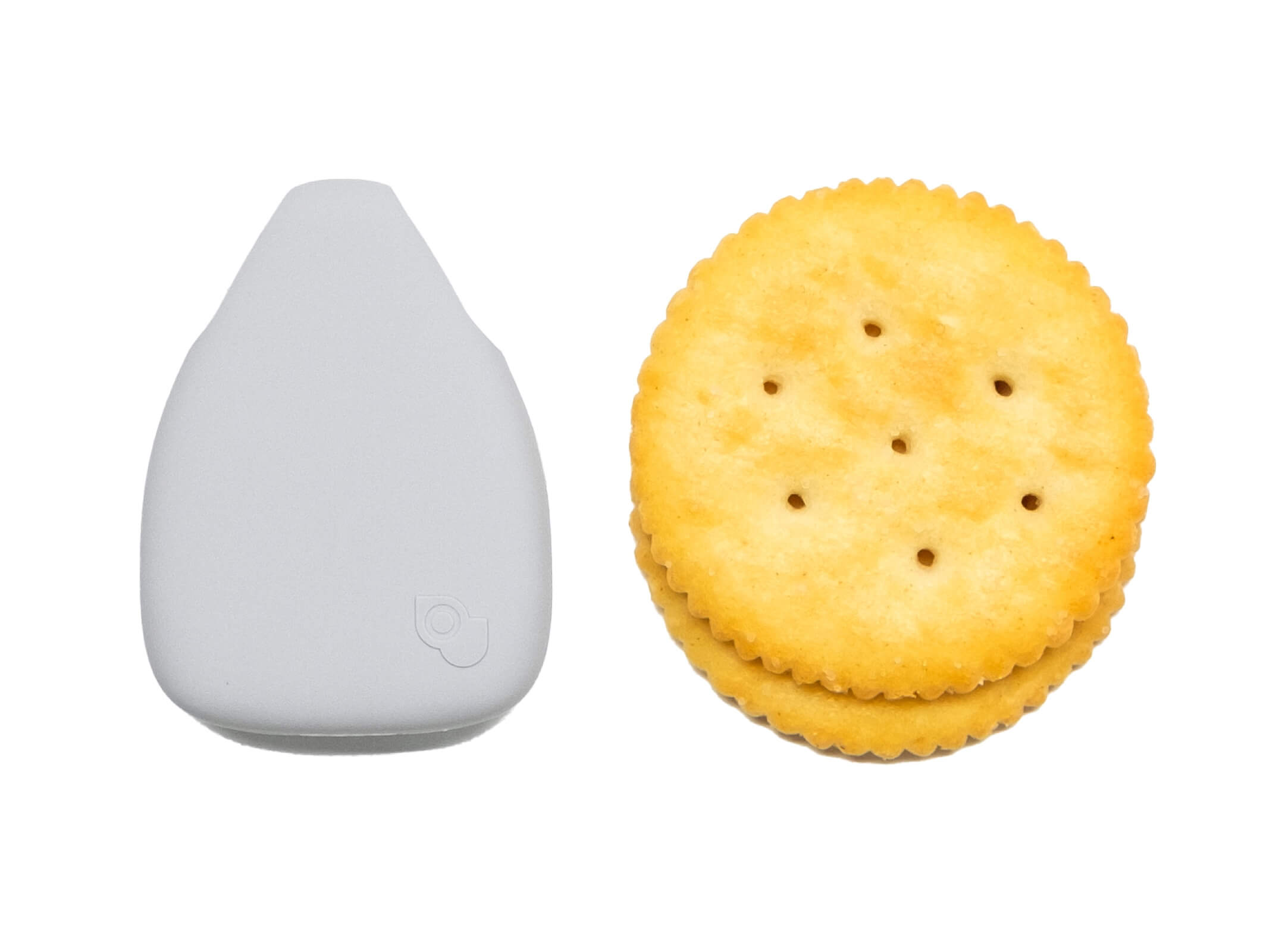 Jiobit is as small as a ritz cracker