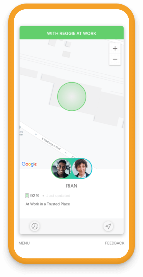 Jiobit Location Tracking for adult safety - Make sure they are with a trusted person
