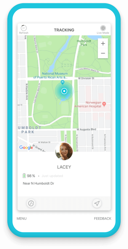 Jiobit for adult safety - smart tracking keeps their location up to date in the app