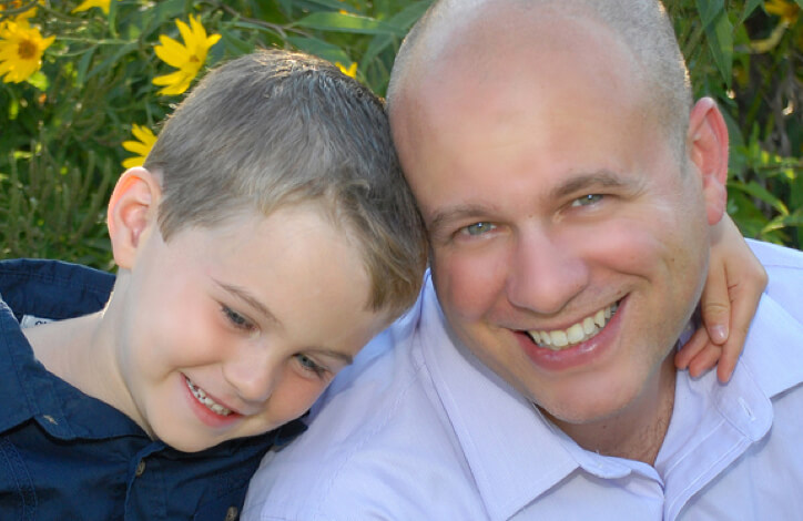 John Renaldi and his son in 2015