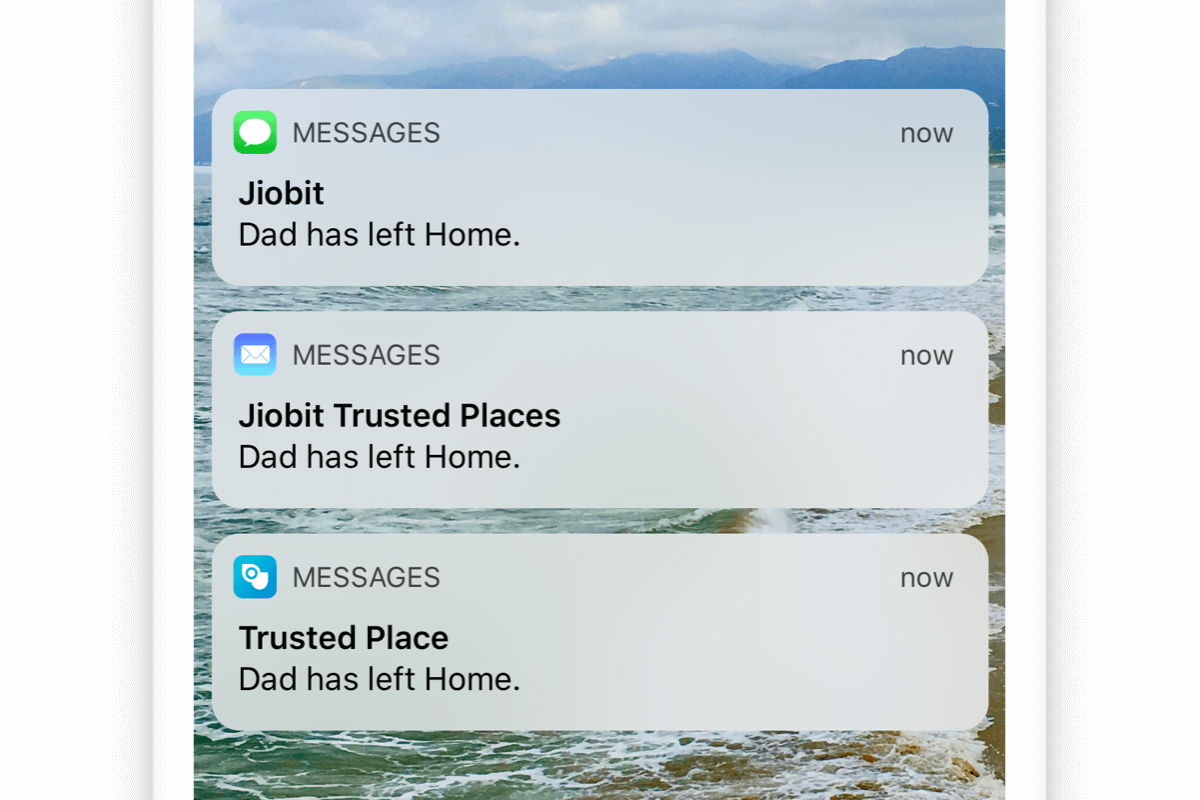 Jiobit Plus: Email & SMS notifications