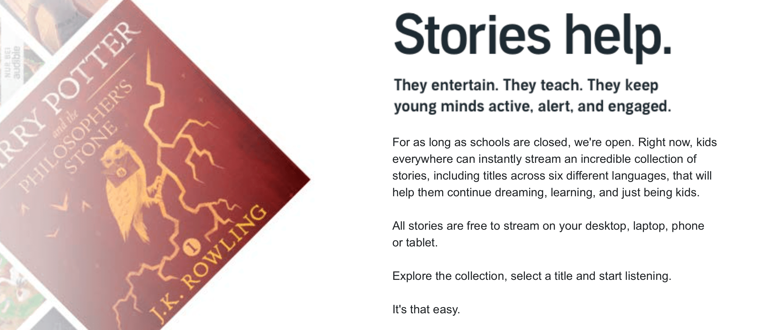 Audible Stories Example
