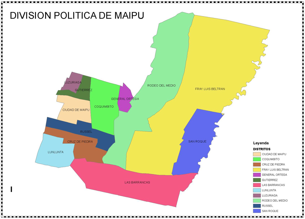 Map of Maipu
