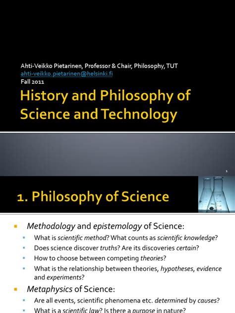 History and Philosophy of Science and Technology