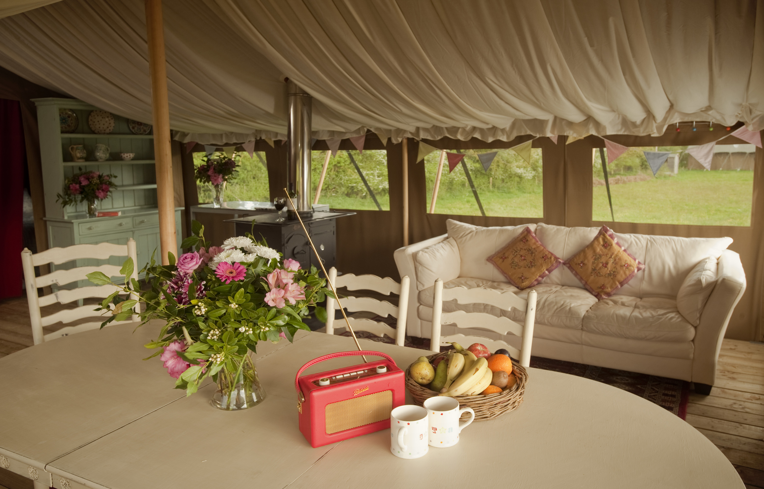 Poppy Safari Tent at Cuckoo Down Farm