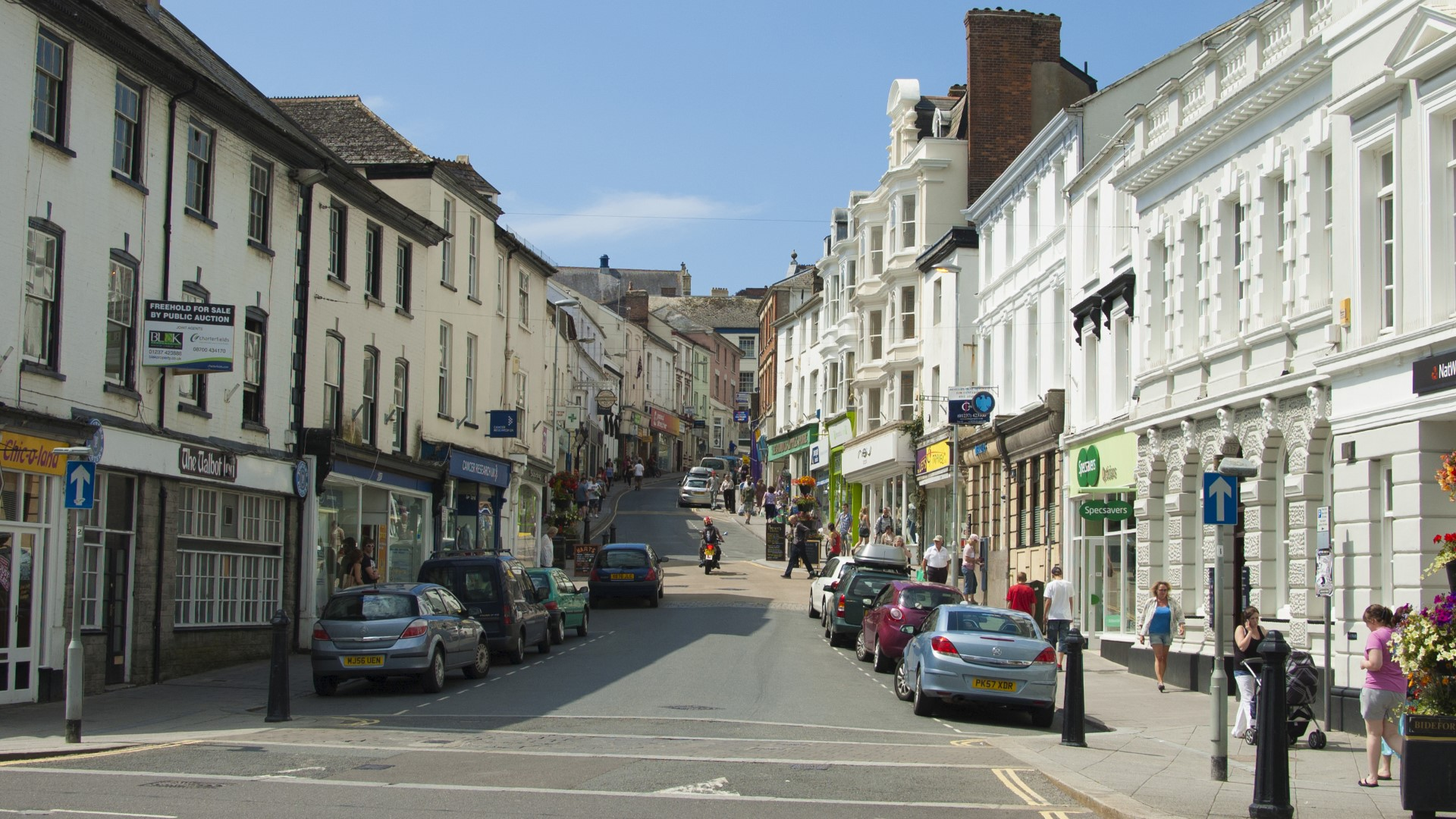 Bideford highstreet in North Devon